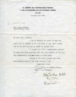 Letter from Juan F. de Cardenas to Ellis Lardner