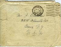 Envelope addressed to Mr. Blickstein