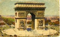 Postcard of the Arc de Triomphe to Julius Blickstein