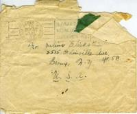 Envelope addressed to Julius Blickstein