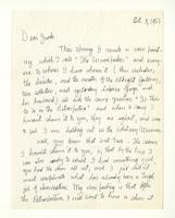 Charles Burchfield to John Baur, Oct. 3, 1955