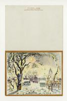 Charles Burchfield Christmas card