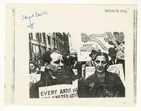 Image of Stuart Davis at a union rally.