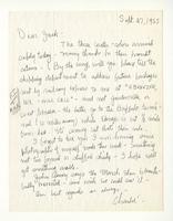 Charles Burchfield to John Baur, Sept. 27, 1955