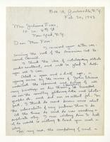 Charles Burchfield to Mrs. Juliana Force, Feb. 20, 1943