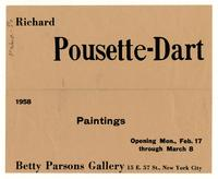 Richard Pousette-Dart 1958 Paintings Opening Mon., Feb. 17 through March 8