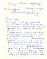 Philip Evergood to John Baur, July 10, 1958