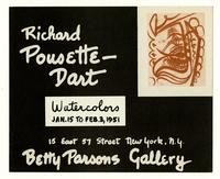 Riichard Pousette-Dart Watercolors Jan. 15 to Feb. 3, 1951 Betty Parsons Gallery