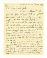 Dear Louisa and Jack, Dec. 12, 1957