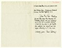 Paul Cadmus to Mrs. Juliana Force, February 22, 1943.