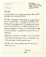 Jacob Lawrence to Jack, September 9th 1974