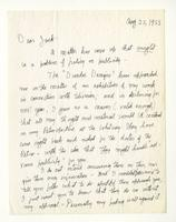 Charles Burchfield to John Baur, Aug. 25, 1955