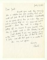 Charles Burchfield to John Baur, July 13, 1955