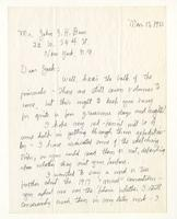 Charles Burchfield to John Baur,  Mar. 15, 1955