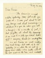 Charles Burchfield to John Baur Rosalind Irvine, May 16, 1959