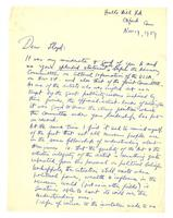 Philip Evergood to Lloyd, Nov 19, 1959