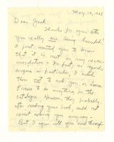 Charles Burchfield to John Baur, May 16, 1965