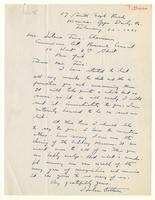 Hobson Pittman to Mrs. Force February 22 1943