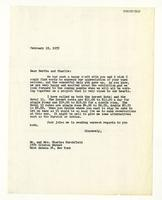 Rosalind Irvine to Bertha and Charlie, Feb. 21, 1955