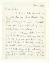 Charles Burchfield to John Baur, Nov. 5, 1955