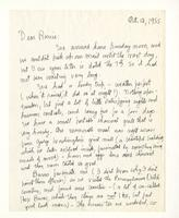 Charles Burchfield to Rosalind Irvine, Oct. 12, 1955