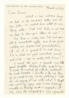 Charles Burchfield to Rosalind Irvine, March 14, 1956