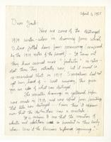 Charles Burchfield to John Baur, April 5, 1955