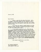 Rosalind Irvine to Charles Burchfield, June 20, 1955