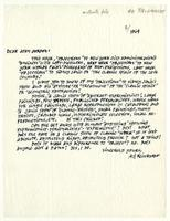 Ad Reinhardt to John Gordon, 1964