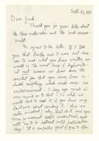 Charles Burchfield to John Baur, Sept. 25, 1955