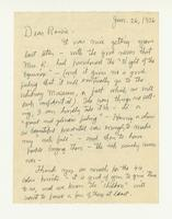 Charles Burchfield to Rosalind Irvine, Jan. 26, 1956