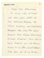 Bill Jensen to Tom Armstrong, June 18, 1984