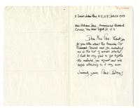 Letter from Paul Cadmus to Juliana Force, February 22, 1943.