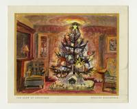"""The Glow of Christmas"" Charles Burchfield Christmas card, December sixteenth"