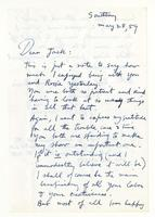 Philip Evergood to Jack, May 28, 1959.