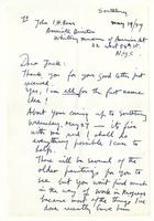 Philip Evergood to John Baur, May 19 1959
