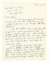 Charles Burchfield to John Baur, Mar. 3, 1955