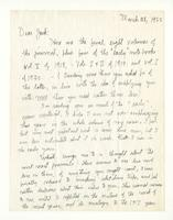 Charles Burchfield to John Baur, March 28, 1955