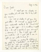 Charles Burchfield to John Baur, Aug. 6, 1956