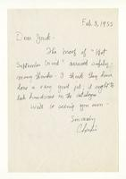 Charles Burchfield to Jack, Feb. 3, 1955