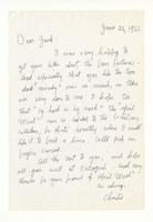 Charles Burchfield to John Baur, June 28, 1955