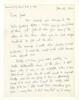 Charles Burchfield to John Baur; Jan. 28, 1956