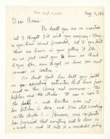 Charles Burchfield to Rosalind Irvine, Aug. 11, 1956