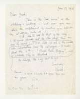 Charles Burchfield to John Baur, Jan. 17, 1956