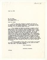 Associate Director to Mr. Si Lewen, June 15, 1961