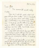 Charles Burchfield to John Baur, Oct. 16, 1955