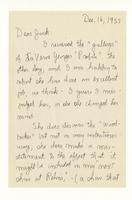 Charles Burchfield to John Baur; Dec. 16, 1955