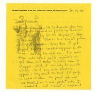 Duane Hanson to Patterson, Jan 19. 1981