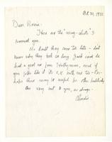 Charles Burchfield to Rosalind Irvine, Oct. 30, 1955