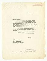 Juliana Force to Philip Evergood, April 21, 1943